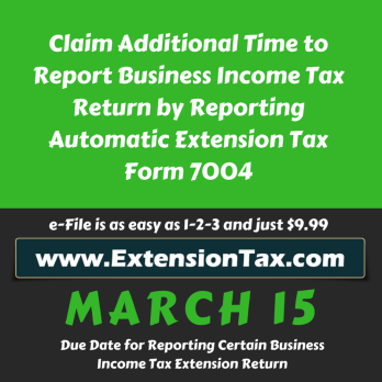 More Time To File Your Tax Return Extension Of Time To File Your